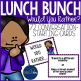 Conversation Starter Cards Group Counseling Lunch Bunch Icebreakers Activities