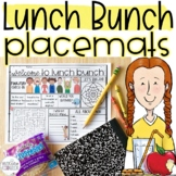 Lunch Bunch Placemat Activity Printable and Digital for Di