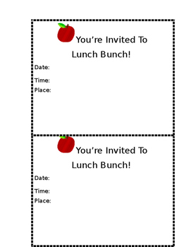 Lunch Bunch Note