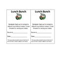 Lunch Bunch Passes