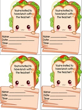 Lunch Bunch Passes for Teachers!