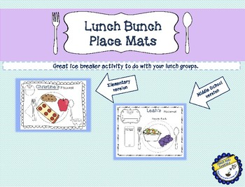 Lunch Bunch Place Mat Activity