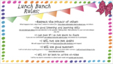 Lunch Bunch Rules, Parent Letter, and Reminders