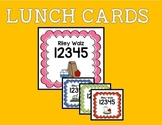 Lunch Cards for Lunch Numbers -- EDITABLE!!