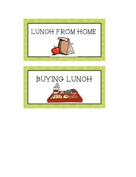 Lunch Chart - Owl