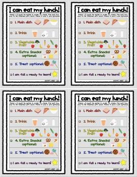 Lunch Checklist