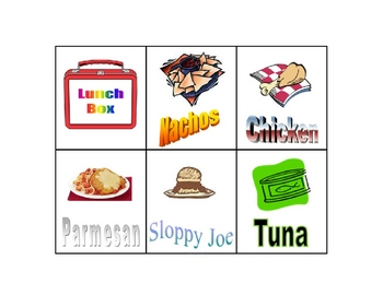 Lunch Choice Cards