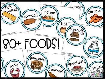 Lunch Choice Chart (Aqua Theme) - Lunch Choice Clip Chart