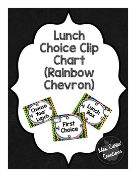 Lunch Choice Clip Chart (Rainbow Chevron)