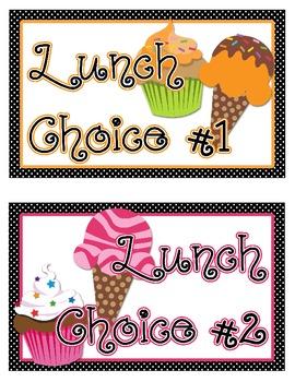 Lunch Choice Clip Tracker: Sweet Treat Theme