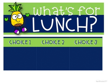 Lunch Choice Freebie