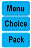 Lunch Choice Headers EDITABLE
