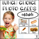 Lunch Choice Photo Cards Editable