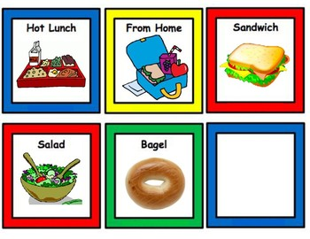 Lunch Choice Picture Cues
