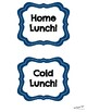 Lunch Choice Posters & Bucket Labels