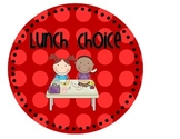 Lunch Choice {and attendance!} Chart--Primary Colors