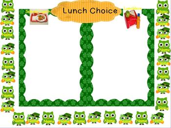 Lunch Choice for Activboard with Irish Owls