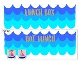 Lunch Choices Beach Themed