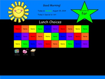 Lunch Choices and Attendance for Smartboard