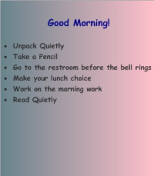 Lunch Choices and Morning Agenda