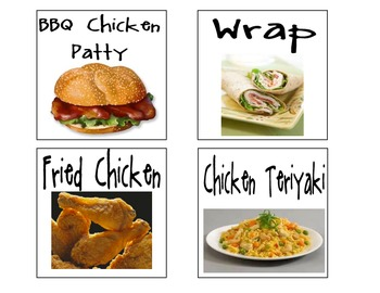 Lunch Choices (for a pocket chart)