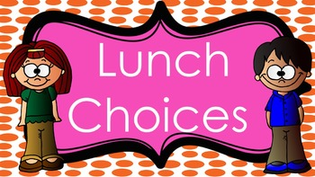 Lunch Choices with Cute Kids