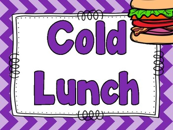 Lunch Clip Chart Freebie