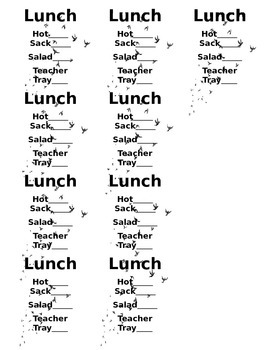 Lunch Count (editable)