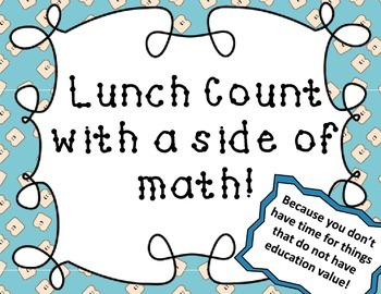 Lunch Count and Math