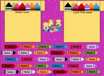 Lunch Count Attendance Crayon Interactive Smartboard Morning