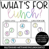 Lunch Count Bulletin Board/White Board Display