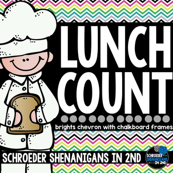 Lunch Count Bright Chevron CHALKBOARD!