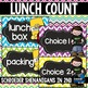 Lunch Count Bright Chevron CHALKBOARD!