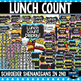 Lunch Count Bright Polka Dots CHALKBOARD!