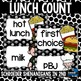 Lunch Count Choice Labels Polka Dot
