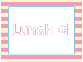 Lunch Count Clip Chart