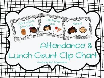 Lunch Count Clip Chart (Black Stripe Theme)