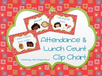 Lunch Count Clip Chart (Kid Theme)