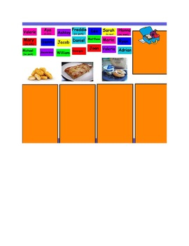 Lunch Count Flipchart for Promethean Board
