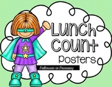 Lunch Count Posters Superhero Style