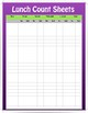 EDITABLE Lunch Count Sheet