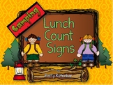 Lunch Count Signs - Camping Themed