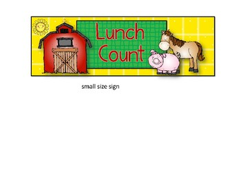 Lunch Count Signs Farm Theme