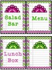 Lunch Count Signs - Green and Pink Chevron Colored