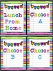Lunch Count Signs - Rainbow Colored