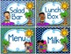 Lunch Count Signs - Seaside Theme