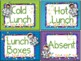 Lunch Count Signs - Space Themed