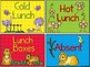 Lunch Count Signs Zoo Themed