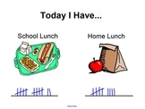 Lunch Count Tally Organizer