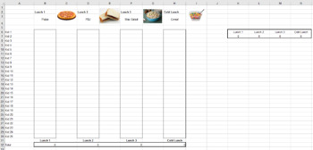 Lunch Count Worksheets